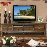 French Style Mahogany Wood TV Stand Cabinet (GSP15-003)