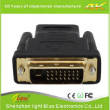 Gold Plug HDMI to DVI Adapter