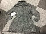Black Newstyle Turndown-Collar Long-Sleeve Ladies Coat