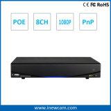 8CH 2MP Onvif P2p Poe Network Video Recorder