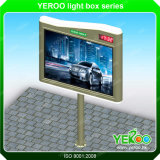 Outdoor Advertising Backlit Billboard Manufacture with LED Clock