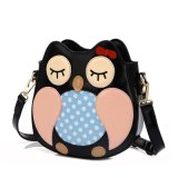 2017 New Arrival Children Owl Cartoon Multi Tone DOT Embroidered Crossbody Bag