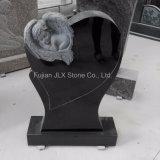 Shanxi Black Granite Cherub Baby Angel Headstones