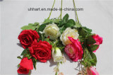 Factory Direct Sale Cheap High Quality Artificial Rose Flower Fake Rosa Flower for Decoration
