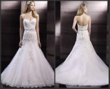 Strapless Lace Bridal Gowns Jewelry Sash Mermaid Wedding Dress Bz2015