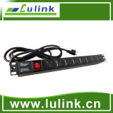 American Type 19 Inch 1u Intelligent Power Distribution Unit, USA Rack Mounted PDU for Network Cabinet