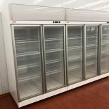 Plug-in White Color Convenience Store Glass Door Beverage Cooler