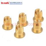 L3021 Brass Threaded Insert Slotted with Flange