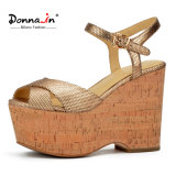 2017 Fashion Lady High Heels Women Casual Cork Platform Shoes