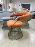 Metal Leisure Restaurant Cushion Outdoor Steel Ding Wire Chair