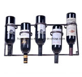 New Metal Wall Mounted Wine Rack 5 Bottle Wine Rack