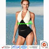 Women One-Piece Swimwears Deep V-Neck