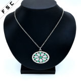 New Design Bohemian Round Engraved Crystal Pendant for Girls