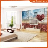 Love Shape Red Maple Leaves Falling The Earth 3D Oil Painting
