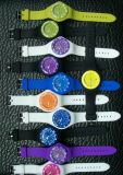 Fashion Unisex Plastic Toy Watches Silicone Strap