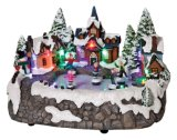 Wholesale Cheap Price LED Christmas House Resin Souvenir Decoration