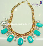 Big Stones Alloy with Gold Plated Fashion Necklace (XJW2119)