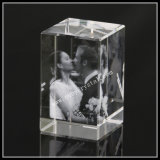 Crystal Block Engraved with Wedding Photos for Souvenir Gift (ND-1002)