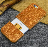 Custom High Quality Real Wood Cell Phone Cover Case for iPhone 6/6s Sakuragi Carving Mobile Case