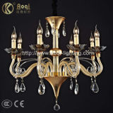 Golden European Crystal Lamp (AQ-20015-8)