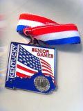 Custom Hard Enamel Medal with Shiny Silver Finish