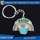 Gold and Nickel Plated Metal Key Chain Ring