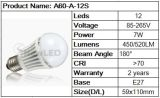 LED Bulb Light 8W (A60-A-12S)