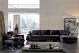 Black Italian Leather Sectional Sofa