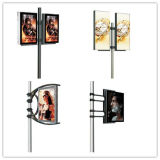 Street Pole by Steel Stand Double Side Static Banner Light Box