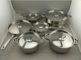 12PCS Stainless Steel Non-Stick Cookware Set (JL-0105)