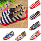 Women′s High Quality Canvas Flats Slip-on Lazy Shoes Loafer