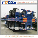 Manufacturing 3 Axles 40FT Flatbed Semi Trailers for Sale