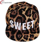 Fitted Striped Patterns Snapback Cap with 3D Embroidery (01023)