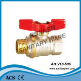 Brass Ball Valve with Butterfly Handle (V18-506)