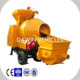 Trailer Mounted15m3/Hour Mobile Concrete Mixer Pump Concrete Pumping Ability 30m3/Hour