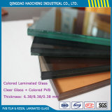 Safety Laminated Glass with Clear Float Glass Color PVB Film