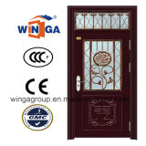 Home Using Modern Style Security Steel Glass Door (W-GD-01)