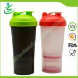 600ml BPA Free Big Shaker Bottle with Storages (SB6002)