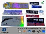 Pet Hologram Self Adhesive Semi Glossy Rain Resistant Shiny Label Stickers