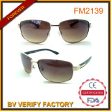 Top Quality New Design Metal Sunglasses with PC Temple