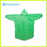 Disposable PE Green Color Rain Coat (RPE-062)