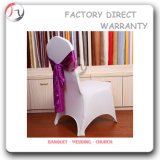 White and Purple Decoration Elasticity Chair Cover (YT-27)
