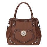 Leather Handbag Brown Color Style Designer Bag (MBNO035029)