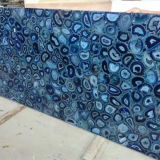 Semi-Precious Luxury Large Blue Agate Gemstone Slab From China