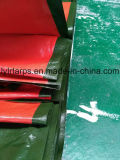China Military Green/Orange PE Tarpaulin Sheet, Poly Tarp Truck Cover