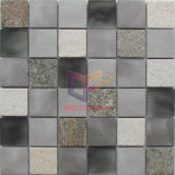 Quartz Mix Aluminium and Crystal Mosaic Tile (CFA92)