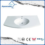 Popular Factory Bathroom Wash Polymarble Basin