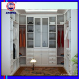 White PVC Melamine Walk in Wardrobe (ZH0007)