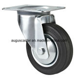 Industria Swivel con Brake Black Rubber Caster