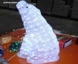 LED Bear Christmas Light Holiday Decorative Light 3D Motif Light